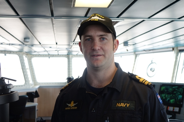 Commanding Officer Andrew Sorensen of the Royal New Zealand Navy.