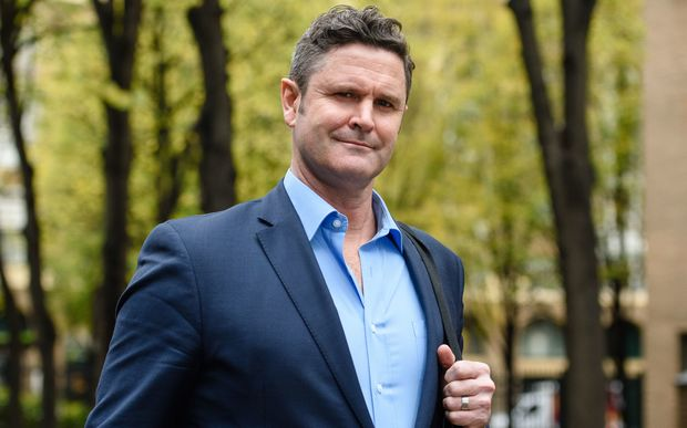 Chris Cairns arriving at Southwark Crown Court on Monday.