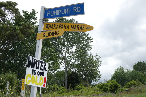 Anti mining signs near Puhipuhi north of Whangarei.