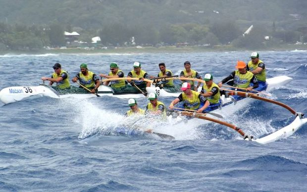 Action from the 2015 Vaka Eiva canoeing festival in Rarotonga.