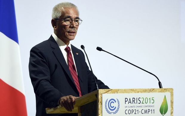 Anote Tong speaking at Paris climate talks