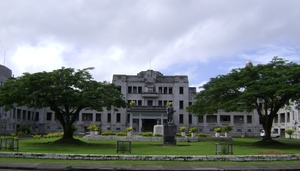 Government buildings in Fiji.