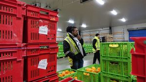 Sanjay Dayal eyes up a deal at the fresh produce wholesalers