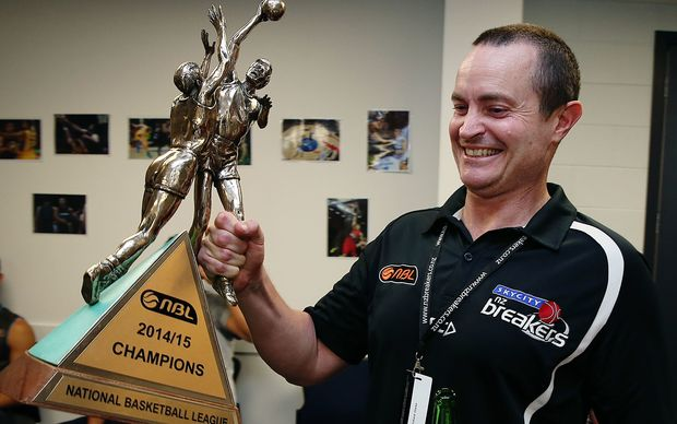 Breakers CEO Richard Clarke after the club won the 2014-15 ANBL title.
