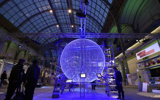 The 'Solutions COP21' exhibition at Grand Palais in Paris as part the COP 21, the United Nations conference on climate change.