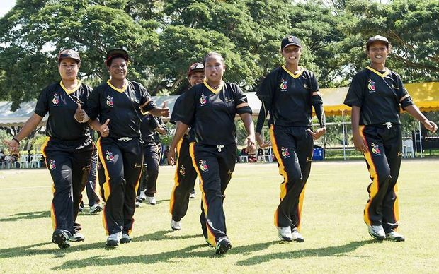 The PNG Lewas at the World T20 Qualifier in Thailand.