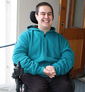 A photo of Tyler Lamont who has been choosing how he spends his disability services funding under Enabling Good Lives.