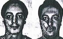 The pair used fake IDs bearing the names Soufiane Kayal (L) and Samir Bouzid