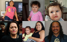 The missing Smith children, their grandfatehr, aunt and Marama Fox