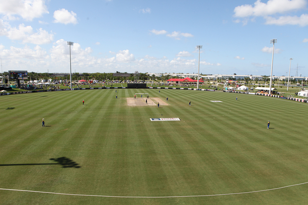 New Zealand play Sri Lanka in cricket in Florida.