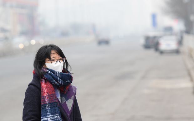 Heavy smog in Beijing on 7 December.