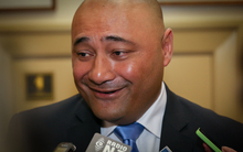 National party minister Sam Lotu-Iiga during caucus run.