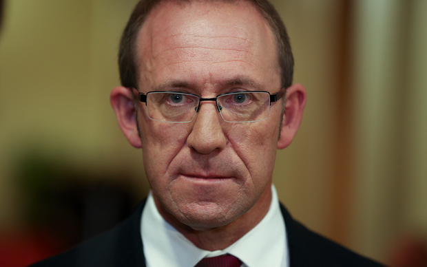 Labour party leader Andrew Little during caucus run.