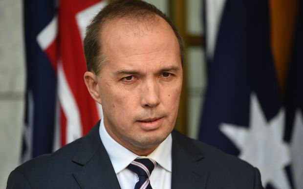 Australian Immigration Minister Peter Dutton at Parliament House in Canberra, Tuesday, June 23, 2015.
