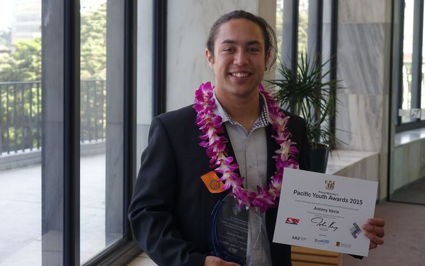 Antony Vavia, a Marine Biology student of Cook Islands and Fijian heritage from south Auckland, won the science category at the Pacific Youth Awards, 2015.