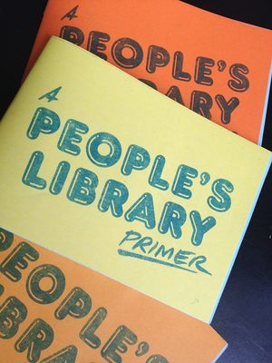 A flyer for the Porirua People's Library.