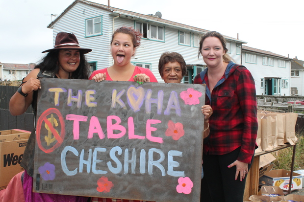 The Koha Table is described as a garage sale without the coin, and about giving and receiving.