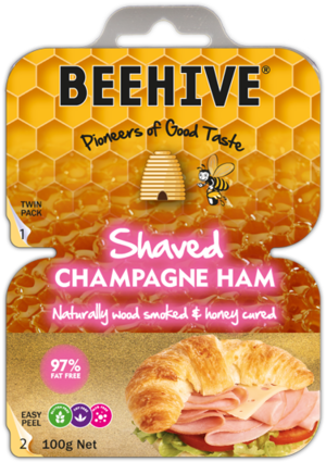 Beehive Shaved Champagne Ham - 200g
