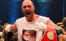 The new heavyweight boxing champion Britain's Tyson Fury.