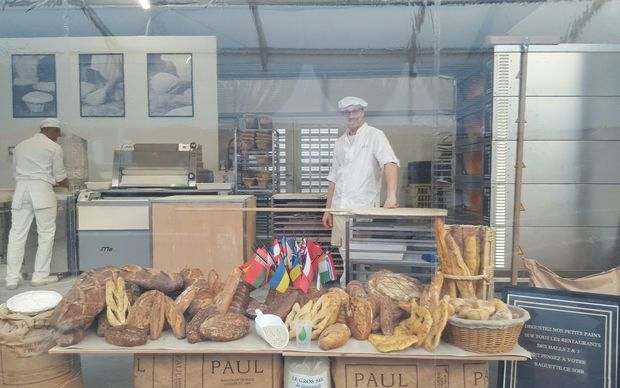 The on-site bakery at COP21.