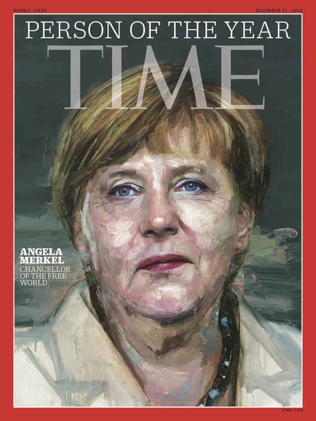 Time Magazine has named Angela Merkel person of the year for 2015