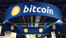 Bitcoin booth at the 2015 International CES in Las Vegas, Nevada. Ethan Miller/Getty Images/AFP