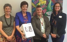 Pictured (L - R) is Moira Lawler, General Manager Lifewise, Anne Tolley, Social Development Minister, David Hanna Executive Director of Wesley Community Action & Shae Ronald, Business Systems and Development Manager at Youthline.