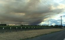 Fire in Wairau Valley 10 December 2015