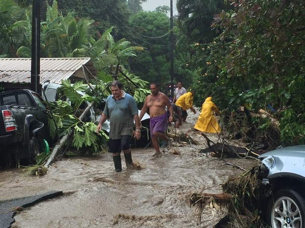 Tahiti's east hit by deluge