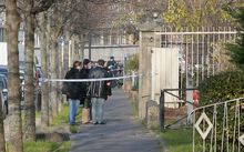 Police investigate the Jean-Perrin nursery school in Aubervilliers after a French nursery teacher invented a story that he was attacked by a member of the Islamic State.