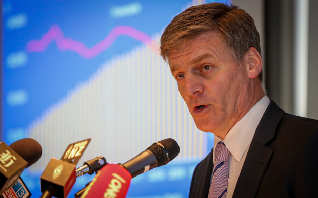 Finance Minister Bill English during the half year economic and fiscal update.