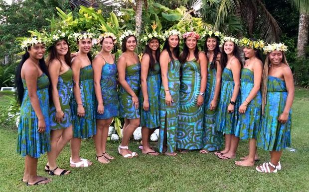 The Cook Islands netball squad that will take on the NZ Development team.