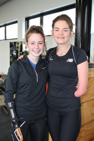 A photo of bronze Medal-winning Dunedin Para-athletes Anna Grimaldi (left) and Holly Robinson.