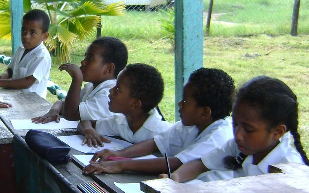 Schoolchildren at Daku Village School, Fiji
