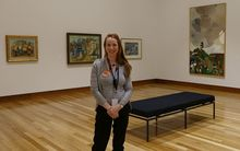 The Art Gallery's volunteer co-ordinator, Rebecca Ogle, is looking forward to seeing the gallery busy with people once again.