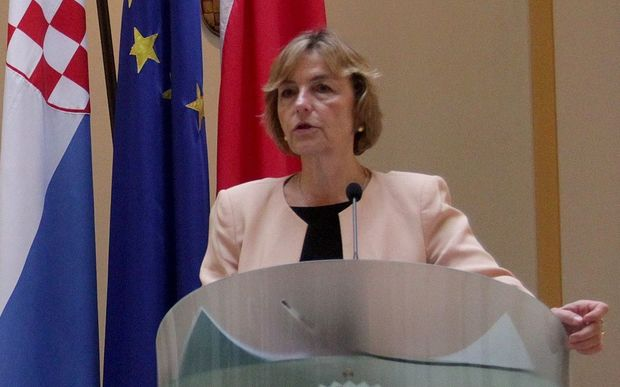 Croatian Foreign Minister Vesna Pusic Stipe Mayic / Anadolu Agency
