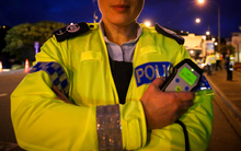 Senior Sergeant Tania van Ooyen at an alcohol checkpoint in Mana, Wellington.