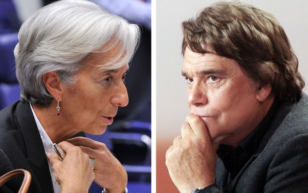 IMF Managing Director Christine Lagarde, and a February 15, 2008 photo of French tycoon Bernard Tapie. IMF Managing Director Christine Lagarde is to face trial over French tycoon Bernard Tapie's affair