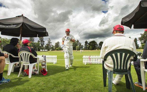 Peter Fulton became Canterbury's most capped first class cricketer in the match, playing in his 104th match for the association overtaking Paul McEwan. Photo: Joseph Johnson / www.photosport.nz