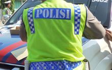 A police officer in Indonesia (file)