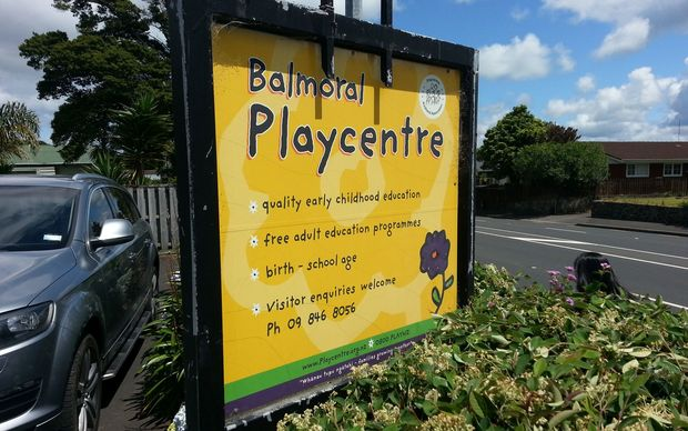 The sign outside Auckland's Balmoral Playcentre.