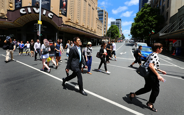 People on Auckland's Queen Street