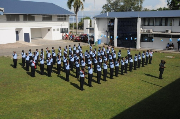 New graduates from the Royal Solomon Islands Police Force Academy. December 2015