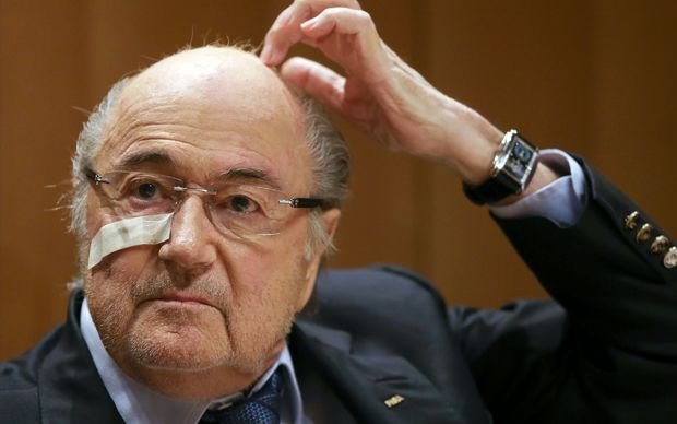 Sepp Blatter at today's news conference.