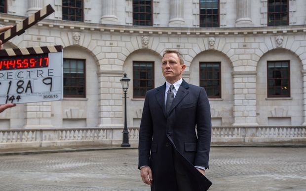 Daniel Craig acting as James Bond in the latest film, Spectre
