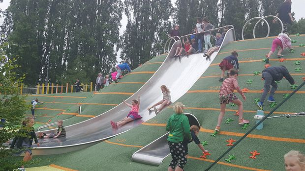 The Margaret Mahy playground in Christchurch opened today.