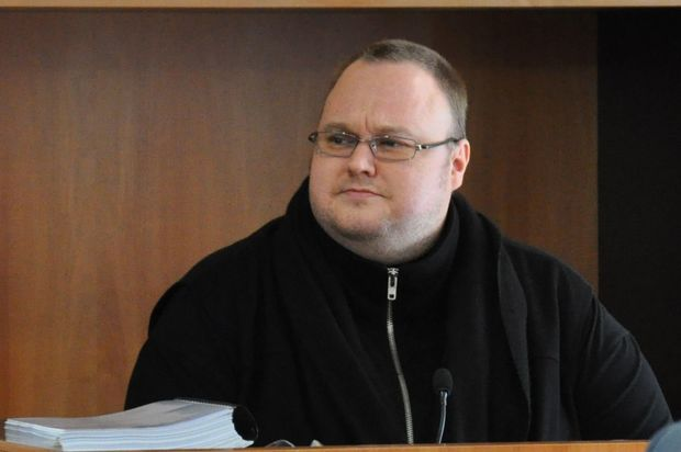 Kim Dotcom during the extradition hearing.