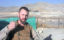 A NZ soldier serving in Afghanistan during Christmas.