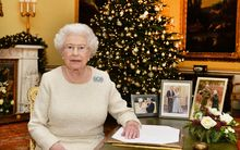 Queen Elizabeth II is pictured after recording her Chistmas Day broadcast to the Commonwealth