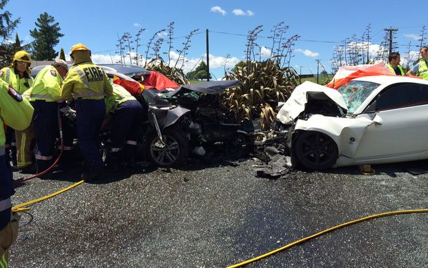 The scene of the fatal crash at Tokoroa